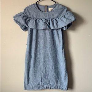 J crew denim dress!